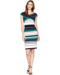 Adrianna Papell - Refined Sporting Stripe Sheath Dress (spring Green Multi) Women's Dress - Lyst
