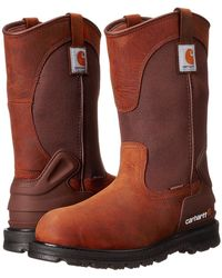 "Carhartt - 11"" Wellington Waterproof Soft Toe Pull-on Leather Work Boot Cmp1100 - Lyst"
