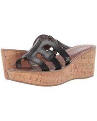 0309fb04532 Sam Edelman - Regis (black Vaquero Saddle Leather) Women s Shoes - Lyst