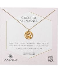 Dogeared - Circle Of Abundance, Good Luck Charm Necklace (gold Dipped) Necklace - Lyst