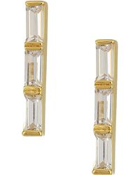 Cole Haan - Stone Bar Earrings (gold/clear Cubic Zirconia) Earring - Lyst