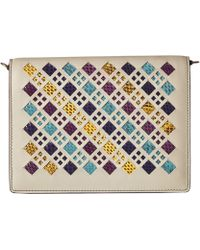 Bottega Veneta - Intrecciato Stained Glass Crossbody Wallet (cement Multi) Wallet Handbags - Lyst