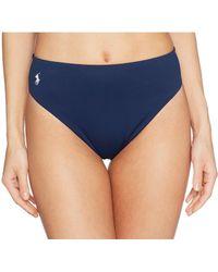 Polo Ralph Lauren - Icon Classic High-waist French Cut Leg Bottoms (navy) Women's Swimwear - Lyst