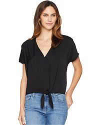 Lucky Brand - Tie Front Top - Lyst