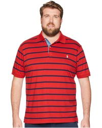 Polo Ralph Lauren - Big Tall Jersey Short Sleeve Yarn-dyed Knit Collar (red Beret/cruise Navy) Men's Clothing - Lyst