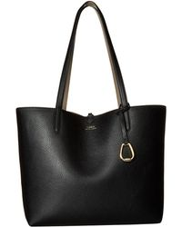 Lauren by Ralph Lauren - Merrimack Reversible Tote Medium (rose Smoke/taupe) Tote Handbags - Lyst