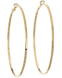 Guess - Square Edge Hoop (silver) Earring - Lyst