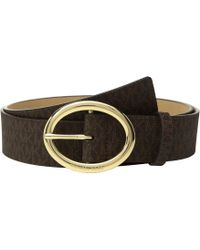 MICHAEL Michael Kors - 38mm Logo Belt (chocolate) Women's Belts - Lyst