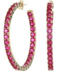 Shashi - Bianca Hoop Earrings (ruby) Earring - Lyst