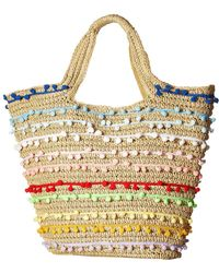 San Diego Hat Company | Bsb1725 Paper Tote With All Over Baby Poms | Lyst