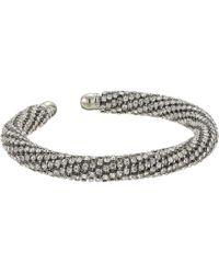 Guess - Pave Twist Flexible C Bangle (silver) Bracelet - Lyst