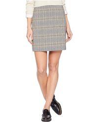 1.STATE - Menswear Plaid Knot Front Mini Skirt (rich Black) Women's Skirt - Lyst