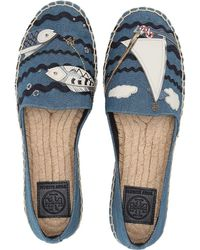 64b657380dace1 Tory Burch - Seafaring Espadrille (denim Chambray multi Multi) Women s  Shoes - Lyst