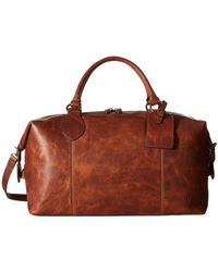 Frye - Logan Overnight (slate Antique Pull Up) Satchel Handbags - Lyst