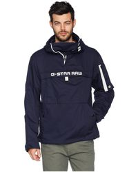 G-Star RAW - Rackam Hooded Anorak Jacket - Lyst