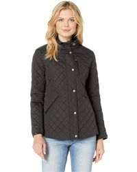 Lauren by Ralph Lauren - Quilted Barn Jacket With Faux Leather Trim (luxe Chino) Women's Jacket - Lyst