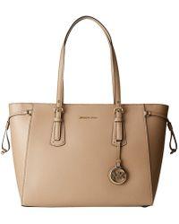 862a72b7d1bb MICHAEL Michael Kors - Voyager Medium Multifunction Top Zip Tote (truffle)  Tote Handbags -