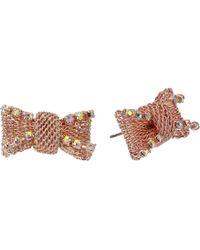 Betsey Johnson - S Bow Stud Earrings - Lyst