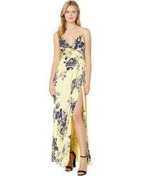 290965ab8e JILL Jill Stuart - Printed Wrap Slip Gown (canary navy Multi) Women s Dress