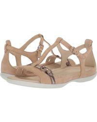 580093856769 Ecco - Flash Buckle Sandal (powder warm Grey) Women s Sandals - Lyst