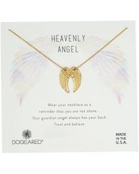 Dogeared - Heavenly Angel, Slide Through Angel Wing Necklace (gold) Necklace - Lyst