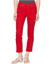 Lauren by Ralph Lauren - Petite Ultra Straight Pfd Denim Straight W/ Cuff (lipstick Red Wash) Women's Jeans - Lyst