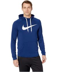 eaa9e6eb3229 Lyst - Nike Dry Training Pullover Sleeveless Hoodie in Blue for Men