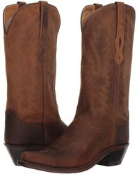 Old West Boots - Taos (brown Apache) Cowboy Boots - Lyst