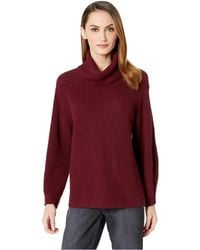 a44bc80b044 Vince Camuto - Long Sleeve Rib Turtleneck Slouchy Sweater (manor Red)  Women s Sweater -