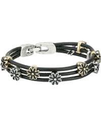 Lucky Brand - Flower Woven Bracelet (ttone) Bracelet - Lyst