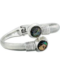 Robert Lee Morris - Abalone And Silver Disc Bypass Bracelet (abalone) Bracelet - Lyst