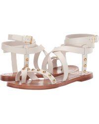 e2c08f0e8cd Tory Burch - Ravello Studded Ankle-wrap Sandal (perfect Ivory) Women s  Shoes -