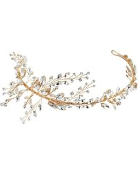 Nina - Drees Marquis Leaves Tiara Silver (gold Marquis Leaves Tiara) Headband - Lyst