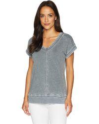 Allen Allen - Cap Sleeve Vee (lapis) Women's Clothing - Lyst