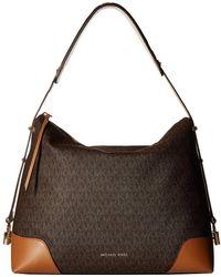 d8aef101dc70 MICHAEL Michael Kors - Crosby Large Shoulder (brown acorn) Tote Handbags -  Lyst