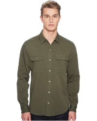 Baldwin Denim - Wallace Shirt (military Green) Men's Long Sleeve Button Up - Lyst