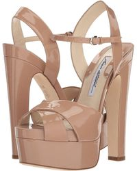 Brian Atwood - Madison (cappuccino Nude Patent) Women's Shoes - Lyst