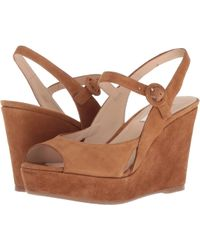 L.K.Bennett - Raisa (tan Suede) Women's Wedge Shoes - Lyst