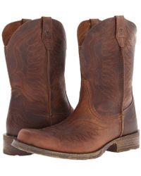 Ariat - Rambler Phoenix (distressed Brown) Cowboy Boots - Lyst