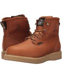Georgia Boot - 6 Waterproof Wedge (barracuda Gold) Men's Work Boots - Lyst