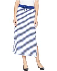 324881a9cce Lauren by Ralph Lauren - Striped French Terry Maxi Skirt (soft White polo  Black