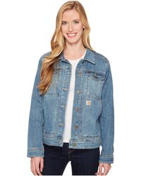 Carhartt - Benson Denim Jacket (stonewash) Women's Coat - Lyst