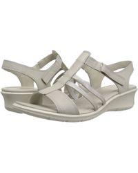 Ecco - Felicia Ankle Sandal (moon/dark Shadow Cow Leather) Women's Sandals - Lyst