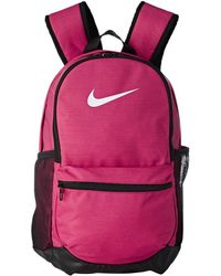 fc2426cd3f8a Nike - Brasilia Medium Backpack (rush Pink black white) Backpack Bags -
