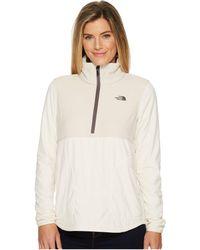 The North Face - Mountain Sweatshirt 1/4 Zip (vintage White/peyote Beige) Women's Sweatshirt - Lyst