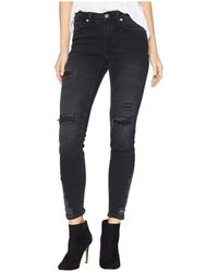 Free People - About A Girl Hr Skinny Jeans (black) Women's Jeans - Lyst