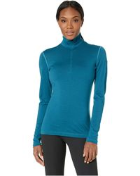Icebreaker - Oasis Long Sleeve Half Zip (gritstone Heather) Women's Clothing - Lyst