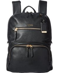 Tumi - Voyageur Leather Halle Backpack (black) Backpack Bags - Lyst