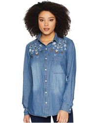 Stetson - Denim Button (blue) Women's Clothing - Lyst