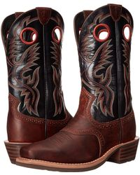 Ariat - Heritage Roughstock (earth/vintage Black) Cowboy Boots - Lyst